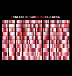 rose gold glossy gradient metal foil texture vector image