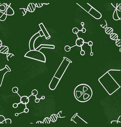 Seamless pattern background chemistry vector