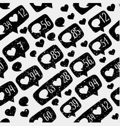 seamless pattern hand drawing vector image