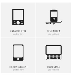 Set of 4 editable instrument icons includes vector