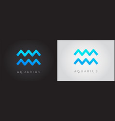 Set two aquarius constellation detailed stylish vector