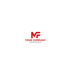 Simple mf logo design vector