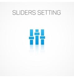 Sliders setting vector