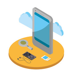 smartphone and cloud vector image