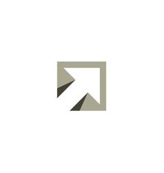 Square arrow logo symbol icon design vector