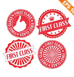 Stamp sticker first class collection - - EP vector