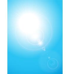 summer blue sky vector image