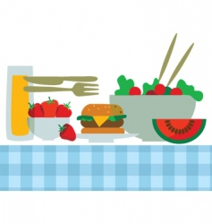 summer foods vector image