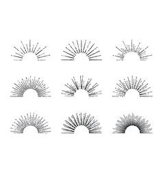 Sunburst Set vector