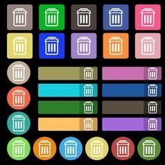 trash icon sign Set from twenty seven multicolored vector image