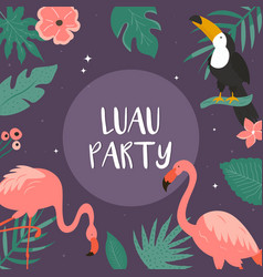 trendy summer tropical banners for hawaiian party vector image
