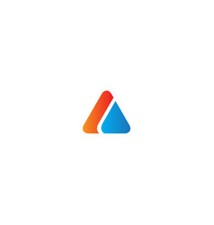 triangle shape colored business logo vector image