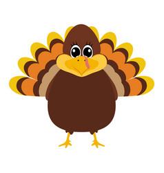 turkey pilgrimin on thanksgiving day vector image vector image