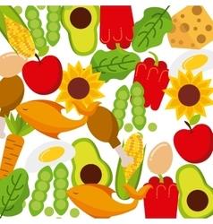 Vegetarian food restaurant menu vector