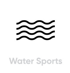 water sports icon vector image