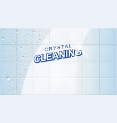 Wet clean tiles vector