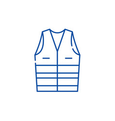 work clothes line icon concept work clothes flat vector image