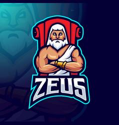 zeus mascot logo vector image