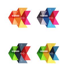 arrow infographics business templates set vector image vector image