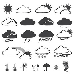 Weather Forecast Icons Collection vector image vector image