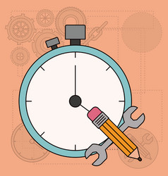 Background with time planning for development of vector