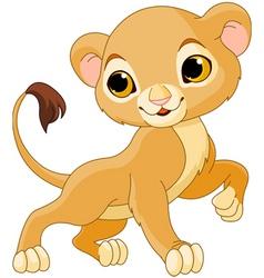 cute lion cub vector image