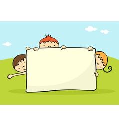 kids banner vector image vector image
