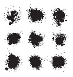 Black ink splat vector