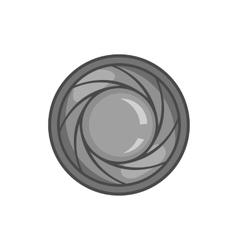 Eye of camera icon black monochrome style vector image vector image