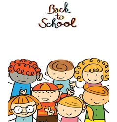 Kindergarten Kids Back to School Background vector image