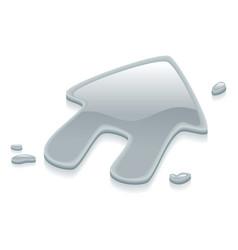 liquid silver metal house symbol sign vector image