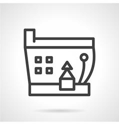 Simple line ship icon vector image vector image