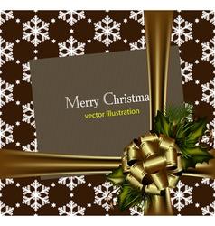 beautiful gold christmas card vector image vector image