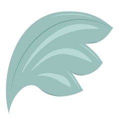 Bird wing blue feathers icon cartoon style vector image vector image