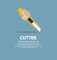 Cutter Knife vector image