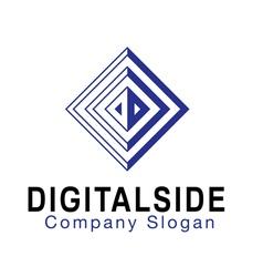 Digital Side Design vector image vector image