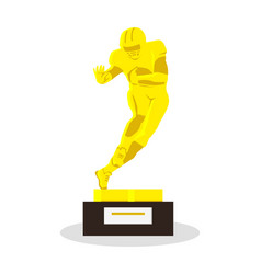 heisman memorial trophy gold reward vector image vector image