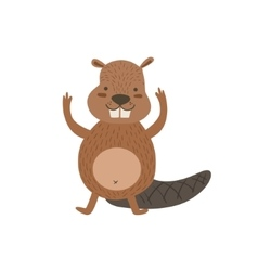 Humanized Beaver Greeting vector image vector image