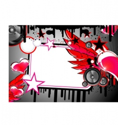 love and music background vector image vector image