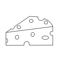 Piece of cheese icon image vector