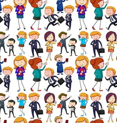 Seamless business people doing activities vector image