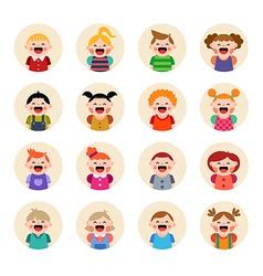 Set of round avatars isolated on white background vector image
