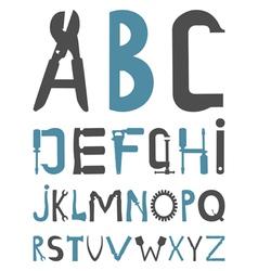 Alphabet tools vector
