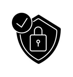 Antivirus black glyph icon vector