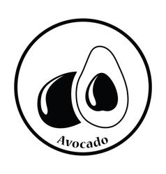 Avocado icon vector image