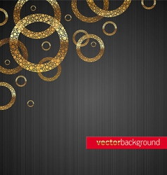 background with golden circles vector image