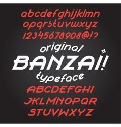 Banzai typeface set vector
