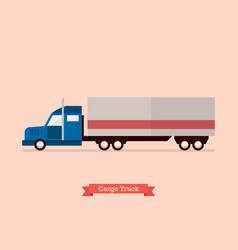 big truck in flat style vector image