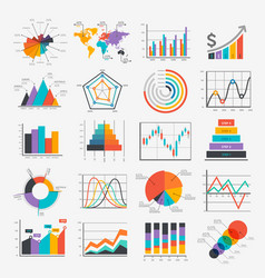 Business infographic icons vector