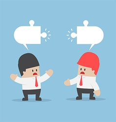 Businessmen have different opinion vector image